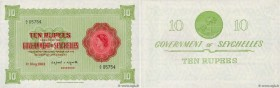 Country : SEYCHELLES  Face Value : 10 Rupees  Date : 01 mai 1963  Period/Province/Bank : Government of Seychelles  Catalogue reference : P.12c  Alphab...