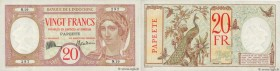 Country : TAHITI  Face Value : 20 Francs  Date : (1928)  Period/Province/Bank : Banque de l'Indochine  Catalogue reference : P.12b  Additional referen...