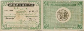 Country : TUNISIA  Face Value : 50 Centimes  Date : 04 novembre 1918  Period/Province/Bank : Régence de Tunis  Catalogue reference : P.42  Additional ...