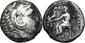 "Continental Greece. Kings of Macedon. Alexander III ""the Great"" (336-323 BC.). AR Tetradrachm, Amphipolis mint. D/ Head of Herakles right, wearing lio..."