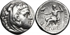 "Continental Greece. Kings of Macedon. Alexander III ""the Great"" (336-323 BC). AR Tetradrachm, Amphipolis mint, 315-294 BC. D/ Head of Herakles right, ..."