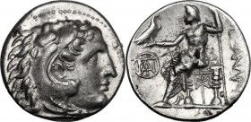 "Continental Greece. Kings of Macedon. Alexander III ""the Great"" (336-323 BC.). AR Drachm, Miletus mint. D/ Head of Herakles right, wearing lion skin h..."