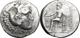 Greek Asia. Lycia, Phaselis. AR Tetradrachm, in the name and types of Alexander III of Macedon, dated CY 12 (207-6 BC). D/ Head of Herakles right, wea...