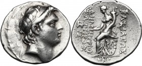 Greek Asia. Syria, Seleucid Kings. Demetrios I Soter (162-150 BC). AR Tetradrachm, Antioch on the Orontem mint. D/ Diademed head right, within wreath....