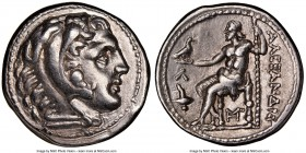 MACEDONIAN KINGDOM. Alexander III the Great (336-323 BC). AR tetradrachm (27mm, 5h). NGC Choice XF. Posthumous issue of Amphipolis, ca. 315-294 BC. He...