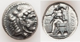 MACEDONIAN KINGDOM. Alexander III the Great (336-323 BC). AR tetradrachm (25mm, 16.96 gm, 12h). About XF. Posthumous issue of Ake or Tyre, dated Regna...