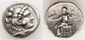 MACEDONIAN KINGDOM. Alexander III the Great (336-323 BC). AR tetradrachm (25mm, 16.62 gm, 11h). XF. Late lifetime-early posthumous issue of Tyre, unce...