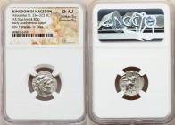 MACEDONIAN KINGDOM. Alexander III the Great (336-323 BC). AR drachm (17mm, 4.30 gm, 12h). NGC Choice AU 5/5 - 5/5. Posthumous issue of Abydus, ca. 310...