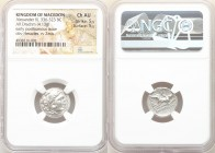 MACEDONIAN KINGDOM. Alexander III the Great (336-323 BC). AR drachm (17mm, 4.13 gm, 2h). NGC Choice AU 5/5 - 5/5. Posthumous issue of Lampsacus, ca. 3...
