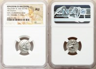 MACEDONIAN KINGDOM. Alexander III the Great (336-323 BC). AR drachm (16mm, 12h). NGC AU. Posthumous issue of Colophon, ca. 319-310 BC. Head of Heracle...