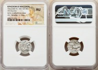 MACEDONIAN KINGDOM. Alexander III the Great (336-323 BC). AR drachm (17mm, 3h). NGC AU. Posthumous issue of Lampsacus, ca. 310-301 BC. Head of Heracle...