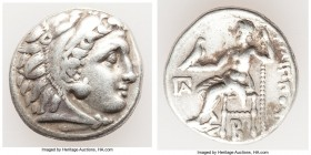 MACEDONIAN KINGDOM. Philip III Arrhidaeus (323-317 BC). AR drachm (17mm, 4.37 gm, 11h). VF. Colophon, ca. 323-319 BC. Head of Heracles right, wearing ...