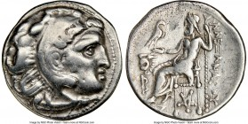 THRACIAN KINGDOM. Lysimachus (305-281 BC). AR drachm (17mm, 12h). NGC VF. Posthumous Alexander type issue of Thrace, Colophon, ca. 301-297 BC. Head of...