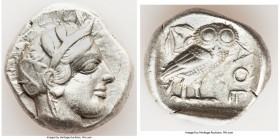 ATTICA. Athens. Ca. 440-404 BC. AR tetradrachm (25mm, 17.13 gm, 10h). VF. Mid-mass coinage issue. Head of Athena right, wearing crested Attic helmet o...