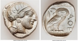 ATTICA. Athens. Ca. 440-404 BC. AR tetradrachm (25mm, 17.19 gm, 12h). Choice XF. Mid-mass coinage issue. Head of Athena right, wearing crested Attic h...