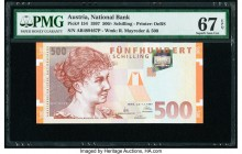 Austria Austrian National Bank 500 Schilling 1.1.1997 Pick 154 PMG Superb Gem Unc 67 EPQ.   HID09801242017  © 2020 Heritage Auctions | All Rights Rese...