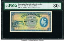 Bermuda Bermuda Government 1 Pound 17.2.1947 Pick 16 PMG Very Fine 30 EPQ.   HID09801242017  © 2020 Heritage Auctions | All Rights Reserve