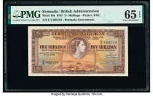 Bermuda Bermuda Government 5 Shillings 1.5.1957 Pick 18b PMG Gem Uncirculated 65 EPQ.   HID09801242017  © 2020 Heritage Auctions | All Rights Reserve