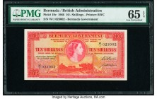 Bermuda Bermuda Government 10 Shillings 1.10.1966 Pick 19c PMG Gem Uncirculated 65 EPQ.   HID09801242017  © 2020 Heritage Auctions | All Rights Reserv...