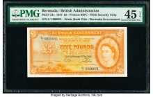 Bermuda Bermuda Government 5 Pounds 1.5.1957 Pick 21c PMG Choice Extremely Fine 45 EPQ.   HID09801242017  © 2020 Heritage Auctions | All Rights Reserv...