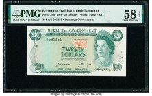 Bermuda Bermuda Government 20 Dollars 6.2.1970 Pick 26a PMG Choice About Unc 58 EPQ.   HID09801242017  © 2020 Heritage Auctions | All Rights Reserve