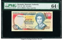 Bermuda Monetary Authority 50 Dollars 26.6.1997 Pick 48 PMG Choice Uncirculated 64 EPQ.   HID09801242017  © 2020 Heritage Auctions | All Rights Reserv...