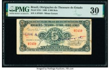 Brazil Obrigacoes do Thesouro do Estado 5 Mil Reis 20.11.1930 Pick S751 PMG Very Fine 30.   HID09801242017  © 2020 Heritage Auctions | All Rights Rese...