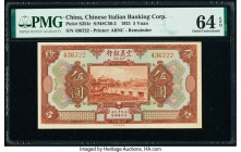 China Chinese Italian Banking Corporation 5 Yuan 1921 Pick S254r S/M#C36-2 Remainder PMG Choice Uncirculated 64 EPQ.   HID09801242017  © 2020 Heritage...