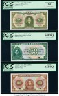 Colombia Banco de la Republica 2 Pesos; 50; 100 Pesos Oro 1.1.1955; 1.1.1951; 1.1.1953 Pick 390dp; 393p2; 394p3 Three Proofs PCGS Very Choice New 64; ...