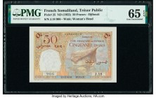 French Somaliland Tresor Public, Cote Francaise des Somalis- Djibouti 50 Francs ND (1952) Pick 25 PMG Gem Uncirculated 65 EPQ.   HID09801242017  © 202...