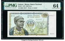 Guinea-Bissau Banco Nacional da Guine-Bissau 500 Pesos 24.9.1975 Pick 3 PMG Choice Uncirculated 64.   HID09801242017  © 2020 Heritage Auctions | All R...
