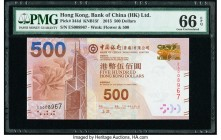 Hong Kong Bank of China (HK) Ltd. 500 Dollars 1.7.2015 Pick 344d KNB15f PMG Gem Uncirculated 66 EPQ.   HID09801242017  © 2020 Heritage Auctions | All ...