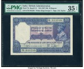 India Government of India 10 Rupees ND (1917-30) Pick 7b Jhun3.7.2 PMG Choice Very Fine 35 EPQ. Spindle holes at issue.  HID09801242017  © 2020 Herita...