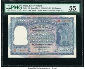 India Reserve Bank of India 100 Rupees ND (1957-62) Pick 43b Jhun6.7.3.2 PMG About Uncirculated 55. Staple holes at issue; minor rust.  HID09801242017...