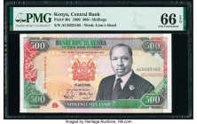 Kenya Central Bank of Kenya 500 Shillings 1.7.1990 Pick 30c PMG Gem Uncirculated 66 EPQ.   HID09801242017  © 2020 Heritage Auctions | All Rights Reser...