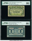 Latvia Latvian Government Currency Note 1 Rublis; 5 Rublis ND (1919) 1919 Pick 2a; 3f Two Examples PMG Gem Uncirculated 66 EPQ (2).   HID09801242017  ...
