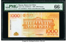 Macau Banco Da China 1000 Patacas 8.8.2008 Pick 113a KNB18 PMG Gem Uncirculated 66 EPQ.   HID09801242017  © 2020 Heritage Auctions | All Rights Reserv...