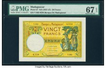 Madagascar Banque de Madagascar 20 Francs ND (1937-47) Pick 37 PMG Superb Gem Unc 67 EPQ.   HID09801242017  © 2020 Heritage Auctions | All Rights Rese...
