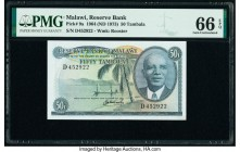 Malawi Reserve Bank of Malawi 50 Tambala 1964 (ND 1973) Pick 9a PMG Gem Uncirculated 66 EPQ.   HID09801242017  © 2020 Heritage Auctions | All Rights R...