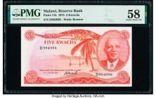 Malawi Reserve Bank of Malawi 5 Kwacha 31.1.1975 Pick 11b PMG Choice About Unc 58.   HID09801242017  © 2020 Heritage Auctions | All Rights Reserve