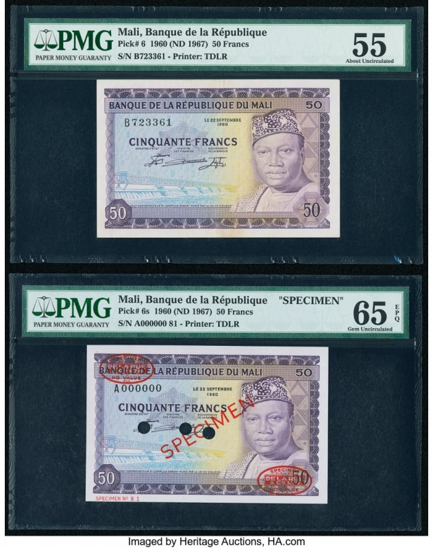 Mali Banque de la Republique du Mali 50 Francs 1960 (ND 1967) Pick 6; 6s Issued;...