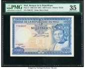 Mali Banque de la Republique du Mali 1000 Francs 22.9.1960 (ND 1967) Pick 9 PMG Choice Very Fine 35.   HID09801242017  © 2020 Heritage Auctions | All ...