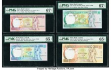 Malta Bank Centrali ta' Malta 2; 5; 10; 20 Liri 1967 (ND 1989) Pick 41; 42; 43; 44 Four Examples PMG Superb Gem Unc 67 EPQ (2); Gem Uncirculated 65 EP...