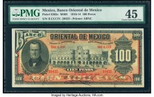 Mexico Banco Oriental 100 Pesos 3.1.1914 Pick S385c M464c PMG Choice Extremely Fine 45.   HID09801242017  © 2020 Heritage Auctions | All Rights Reserv...