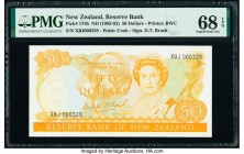 New Zealand Reserve Bank of New Zealand 50 Dollars ND (1983-92) Pick 174b PMG Superb Gem Unc 68 EPQ. Serial number 329.  HID09801242017  © 2020 Herita...
