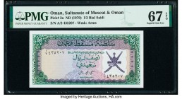 Oman Sultanate of Muscat and Oman 1/2 Rial Saidi ND (1970) Pick 3a PMG Superb Gem Unc 67 EPQ.   HID09801242017  © 2020 Heritage Auctions | All Rights ...
