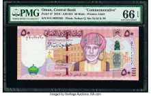 Oman Central Bank of Oman 50 Rials 2010 / AH1431 Pick 47 Commemorative PMG Gem Uncirculated 66 EPQ.   HID09801242017  © 2020 Heritage Auctions | All R...