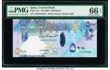 Qatar Qatar Central Bank 500 Riyals ND (2007) Pick 27a PMG Gem Uncirculated 66 EPQ.   HID09801242017  © 2020 Heritage Auctions | All Rights Reserve