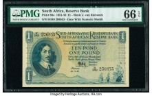 South Africa South African Reserve Bank 1 Pound 18.11.1958 Pick 93e PMG Gem Uncirculated 66 EPQ.   HID09801242017  © 2020 Heritage Auctions | All Righ...
