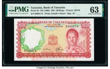 Tanzania Bank of Tanzania 100 Shillings ND (1966) Pick 5b PMG Choice Uncirculated 63. Minor thinning.  HID09801242017  © 2020 Heritage Auctions | All ...
